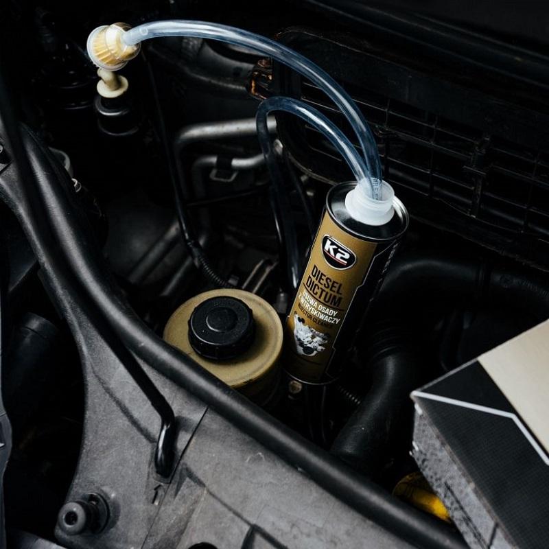 czyszczenie wtrysków za pośrednictem k2 diesel dictum